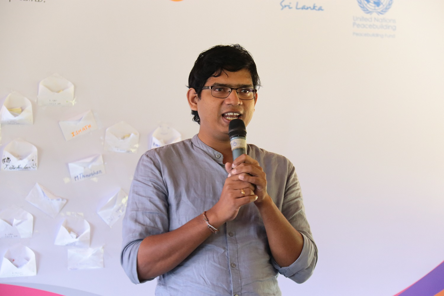 Kabilan at the Youth4Youth Eastern Province symposium
